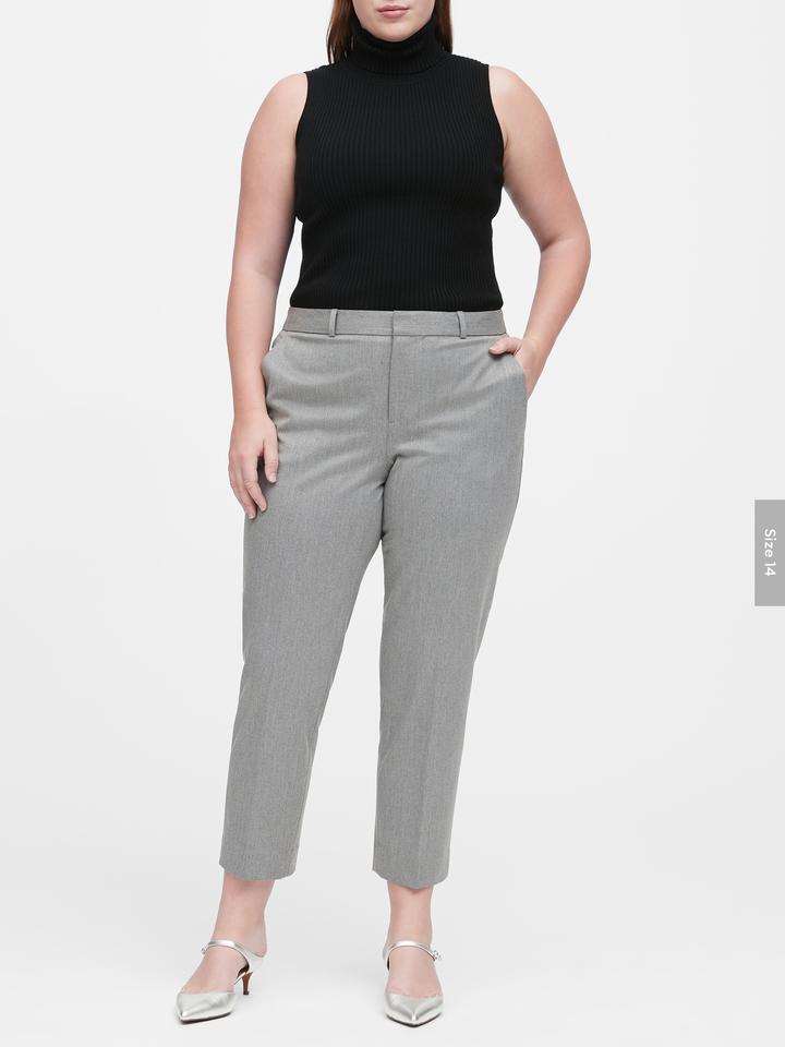 Kadın Gri Avery Straight-Fit Pantolon