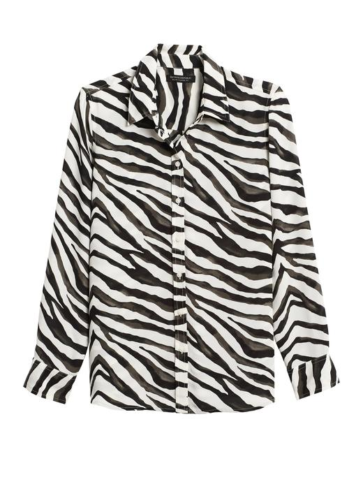 Zebra Desenli Gömlek