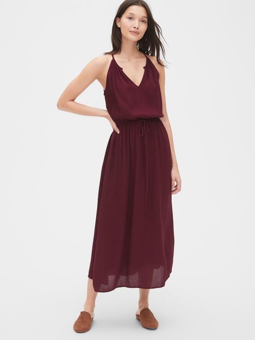 Halter Yaka Midi Elbise