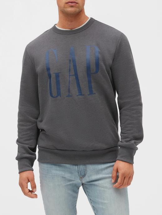 Erkek gri Gap Logo Sweatshirt