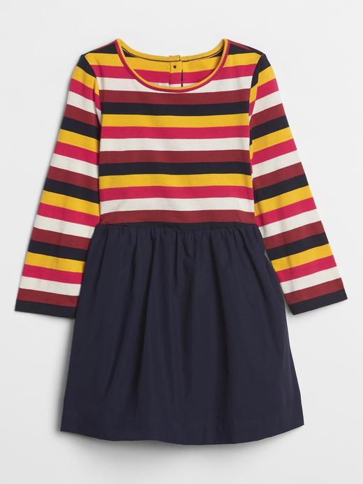 Bebek çok renkli Renkli Çizgili Elbise