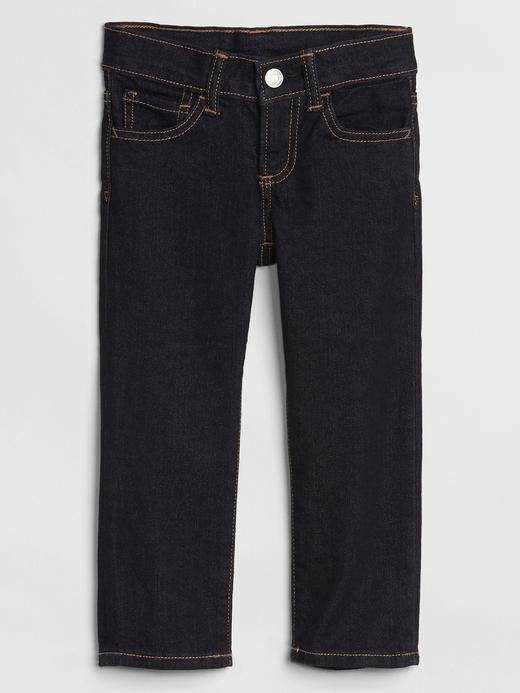 Bebek Lacivert Straight Denim Pantolon