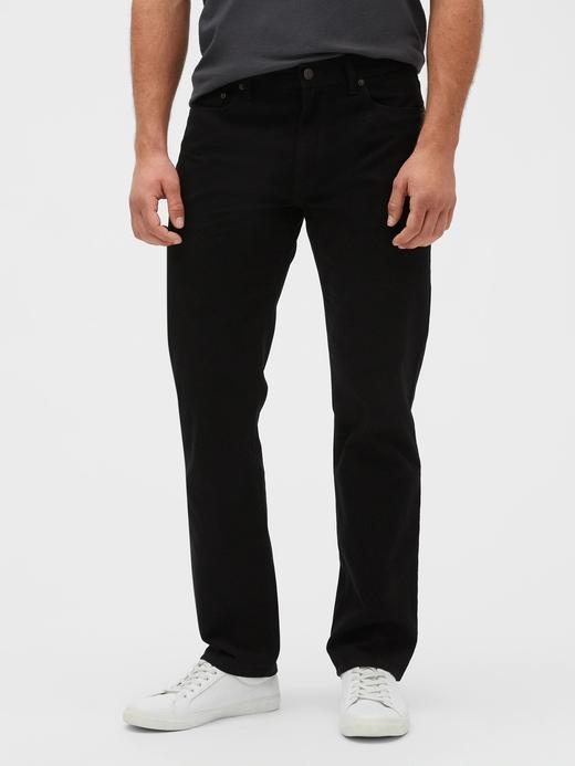 Erkek Siyah Straight Denim Pantolon