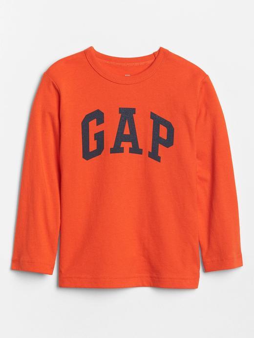 Bebek Turuncu Gap Logo Uzun Kollu T-Shirt