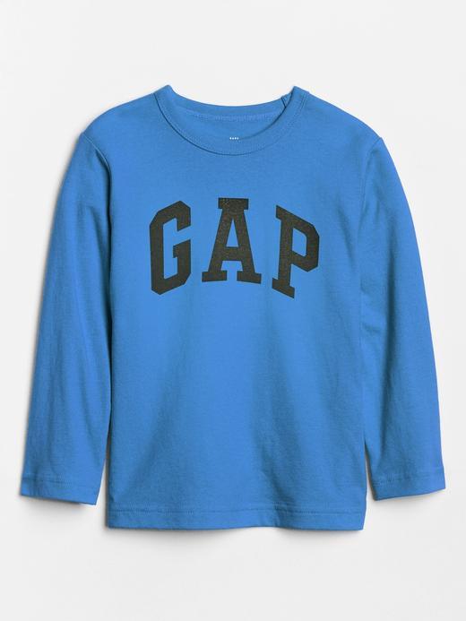 Bebek mavi Gap Logo Uzun Kollu T-Shirt