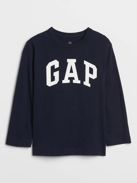 Bebek lacivert Gap Logo Uzun Kollu T-Shirt