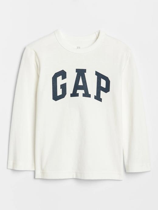 Bebek beyaz Gap Logo Uzun Kollu T-Shirt