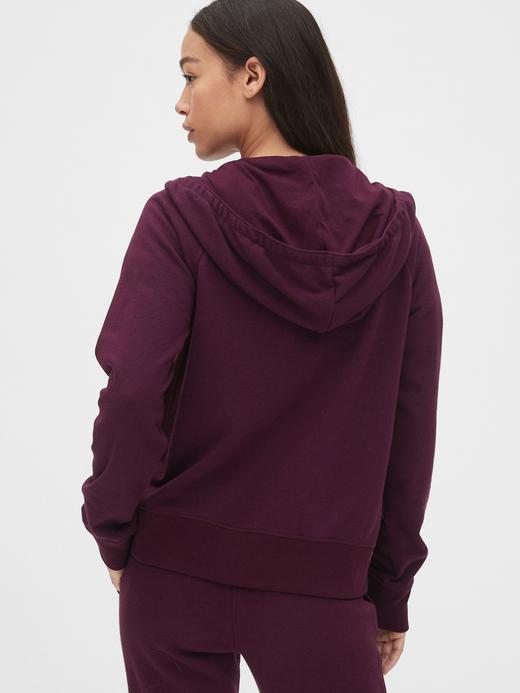 Kadın Gri Gap Logo Fermuarlı Kapüşonlu Sweatshirt