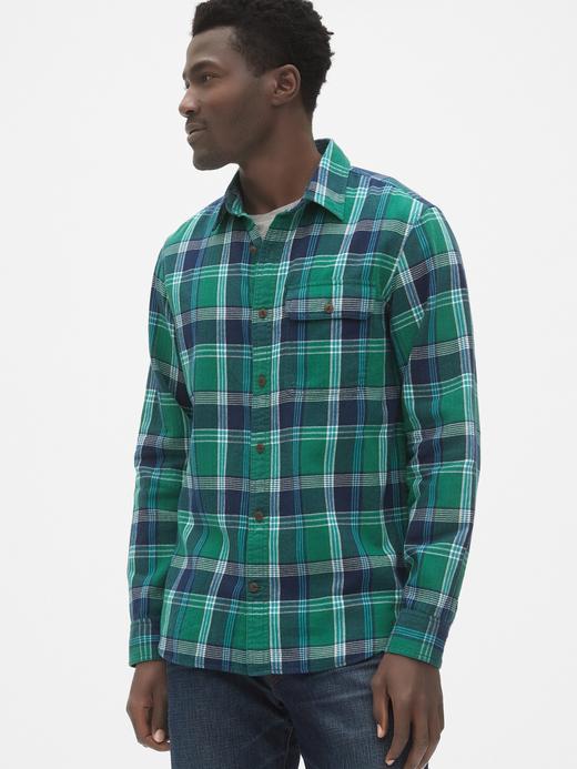 Erkek Yeşil Kareli Gömlek