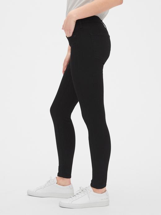 Kadın Siyah Orta Belli True Skinny Denim Pantolon