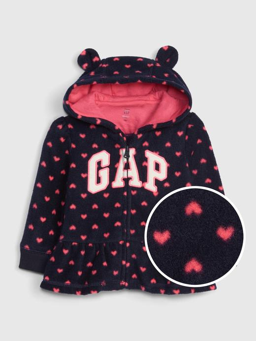 Bebek Lacivert Gap Logo Kapüşonlu Sweatshirt