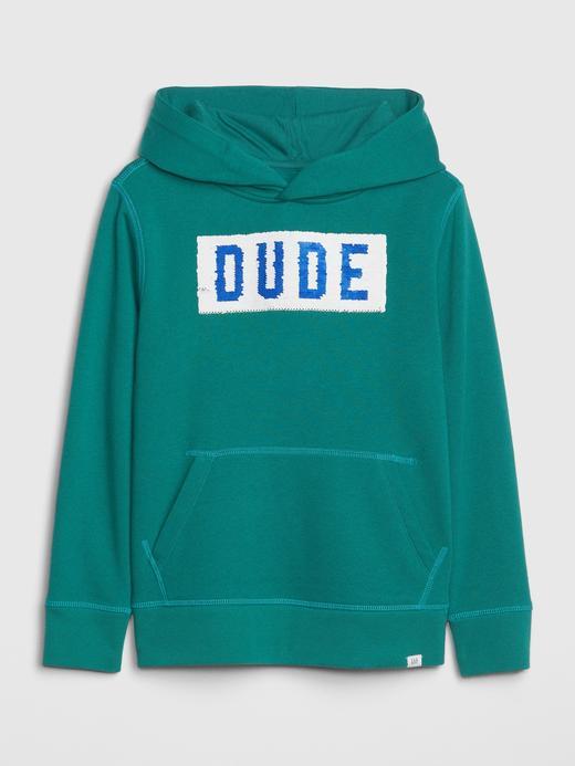 Erkek Çocuk Yeşil Flippy Sweatshirt