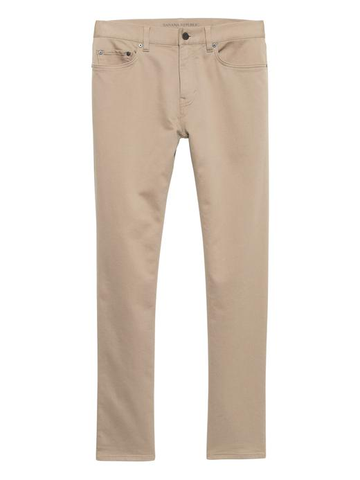 Erkek Bej Slim Traveler Pantolon
