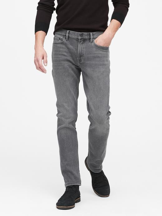Erkek Gri Slim Legacy Jean Pantolon