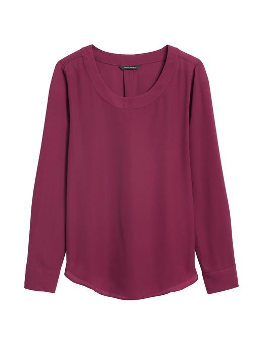 Kadın Kırmızı Yuvarlak Yaka Bluz