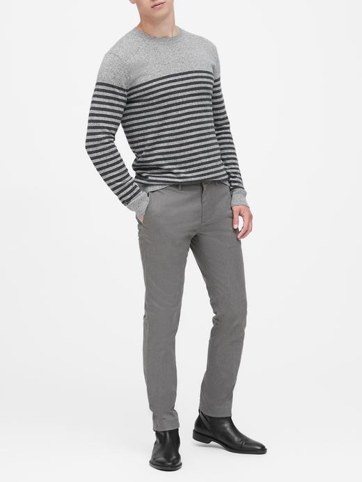 Erkek Gri Fulton Skinny Rapid Movement Chino Pantolon