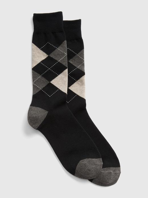 Erkek Siyah Desenli çorap