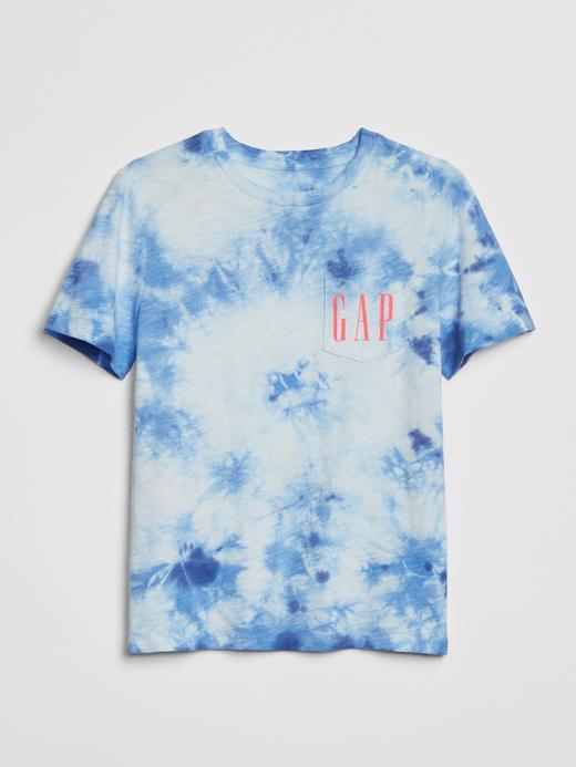 Erkek Çocuk Mavi Gap Logo 50.Yıl Kısa Kollu T-Shirt