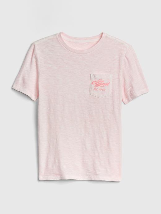 Erkek Çocuk Pembe Gap Logo 50.Yıl Kısa Kollu T-Shirt