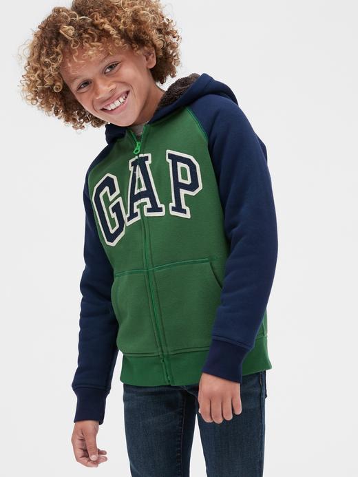Erkek Çocuk Logo Sherpa Sweatshirt