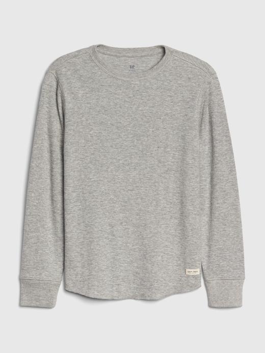 Erkek Çocuk gri Erkek Çocuk Uzun Kollu Örgü T-Shirt