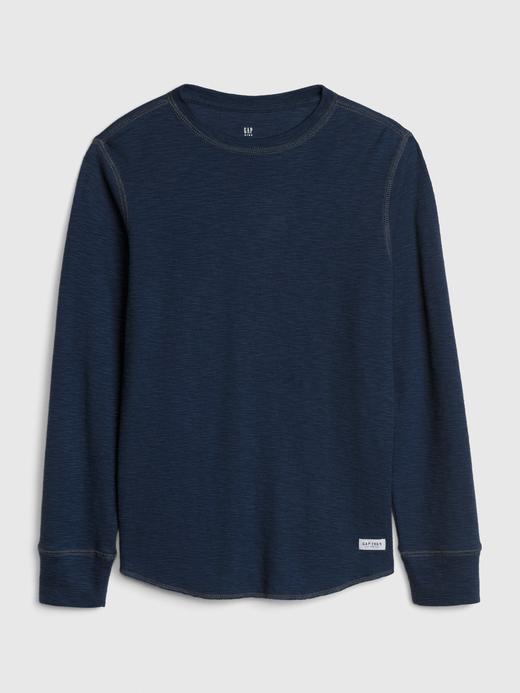 Erkek Çocuk lacivert Erkek Çocuk Uzun Kollu Örgü T-Shirt