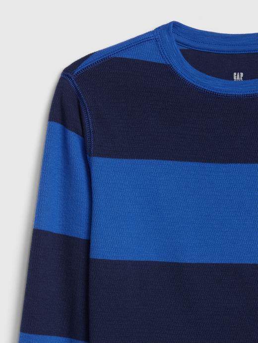 Erkek Çocuk mavi çizgili Erkek Çocuk Uzun Kollu Örgü T-Shirt