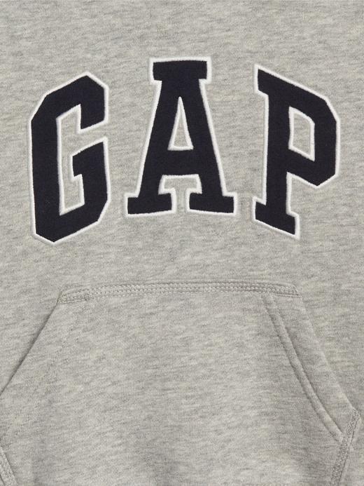 Bebek gri Logolu Kapüşonlu Sweatshirt