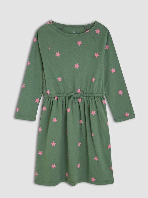 Kız Çocuk Yeşil Uzun Kollu Elbise