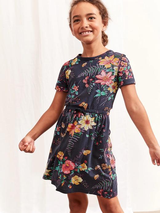 Kız Çocuk Lacivert Uzun Kollu Elbise