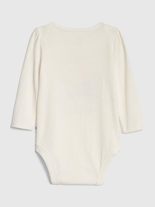 Bebek Beyaz Grafik Bodysuit