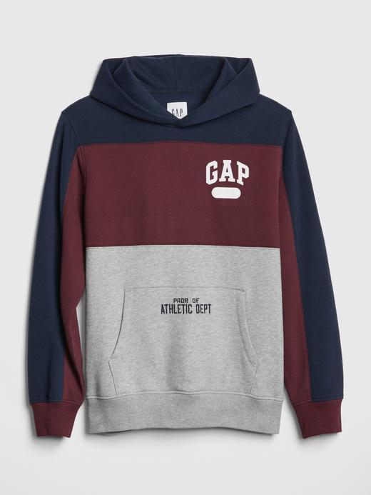 Erkek Gri Gap Logo Kapüşonlu Sweatshirt