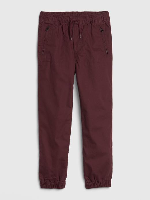 Erkek Çocuk Kırmızı Jersey Jogger Pantolon