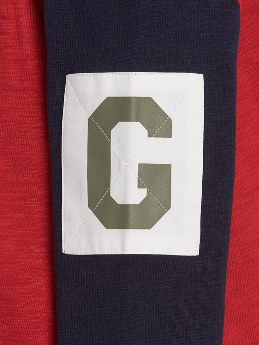 Erkek Çocuk Mavi Gap Logo Kapüşonlu T-shirt