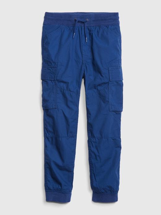 Erkek Çocuk Mavi Jersey Kargo Pantolon