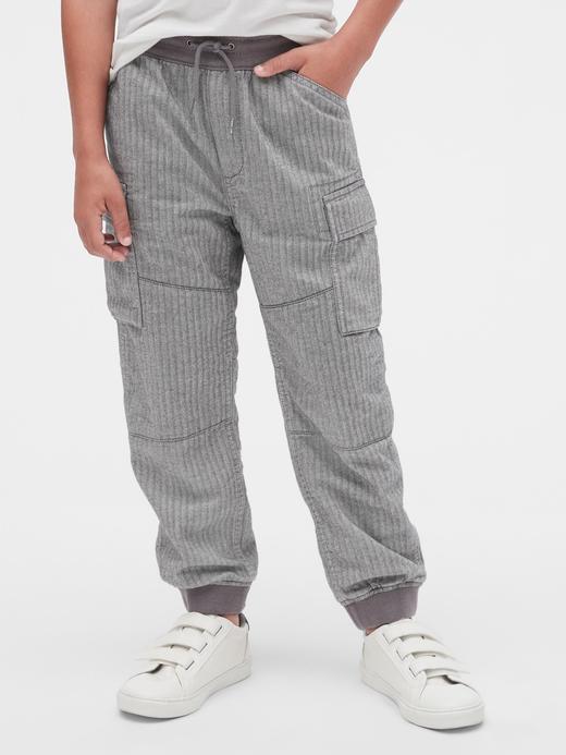Erkek Çocuk yeşil Jersey Kargo Pantolon