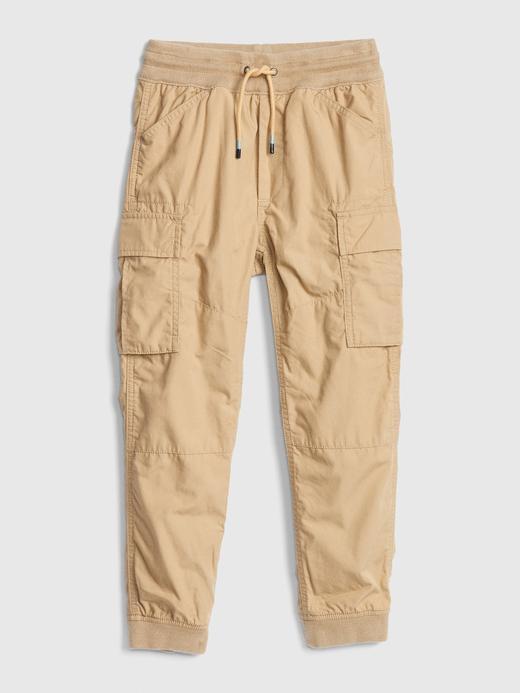 Erkek Çocuk Bej Jersey Kargo Pantolon