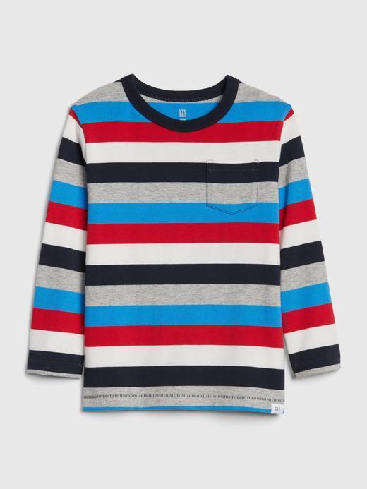 Bebek Kırmızı Çizgili Uzun Kollu T-shirt