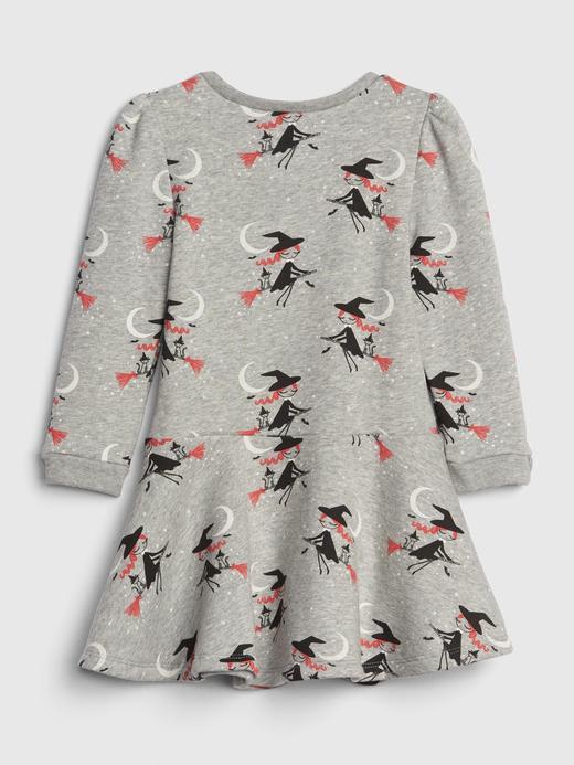 Bebek Gri Desenli Elbise