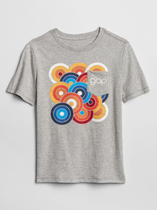 Erkek Çocuk Gri Gap Logo 50.Yıl Kısa Kollu T-Shirt