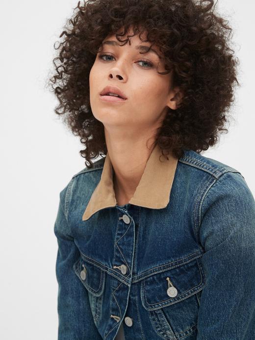 Kadın Mavi İkonik Denim Ceket