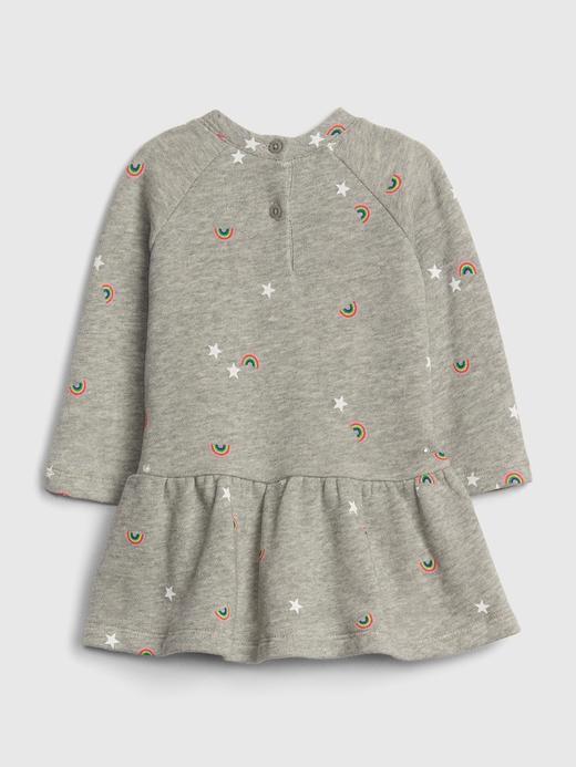 Bebek gri Gap Logo Peplum Elbise