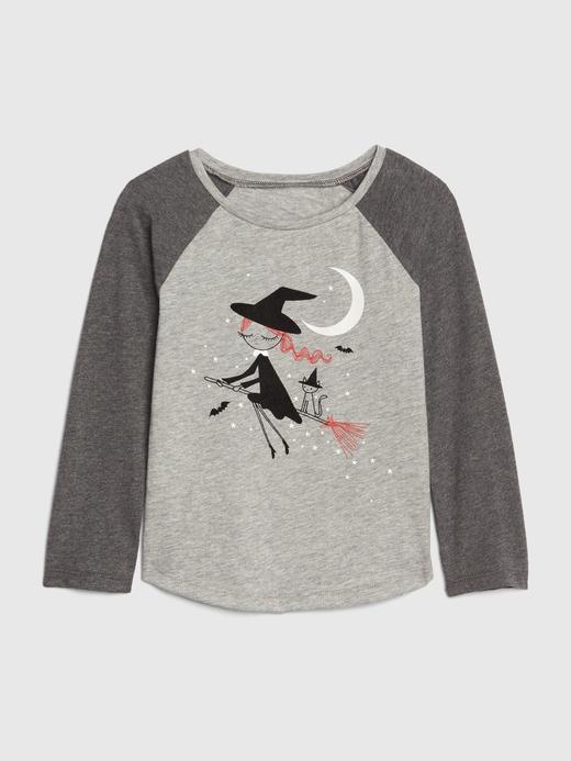 Bebek Gri Karanlıkta Parlayan Baskılı T-Shirt