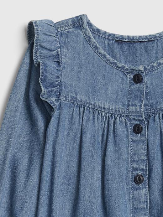Denim Düğmeli Elbise