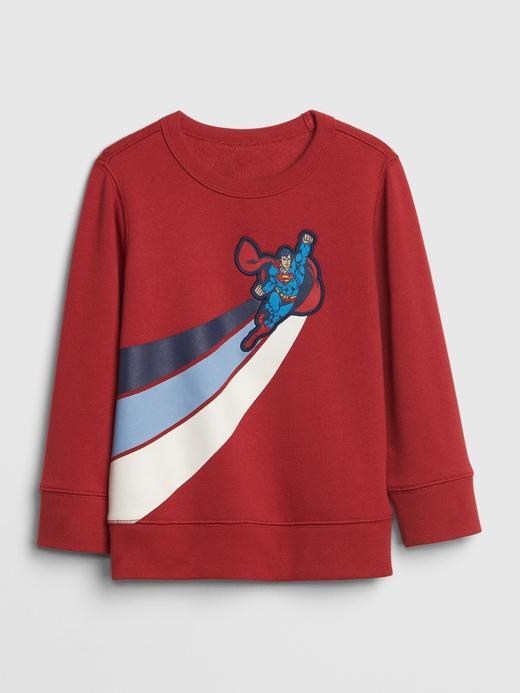 Bebek Kırmızı Baskılı Sweatshirt