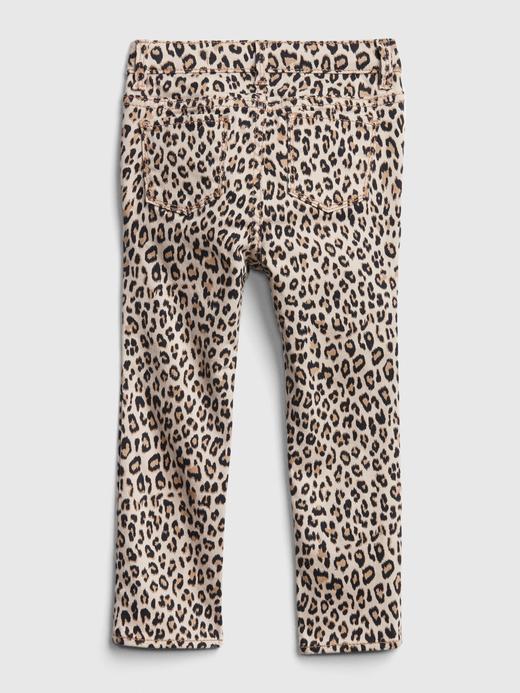 Bebek Çok renkli Leopar Süper Skinny Jeans