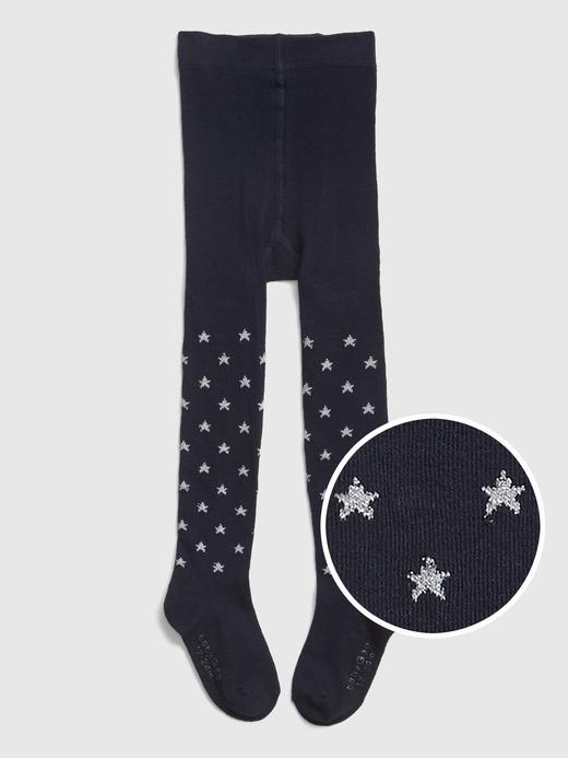 Bebek Siyah Desenli Külotlu Çorap