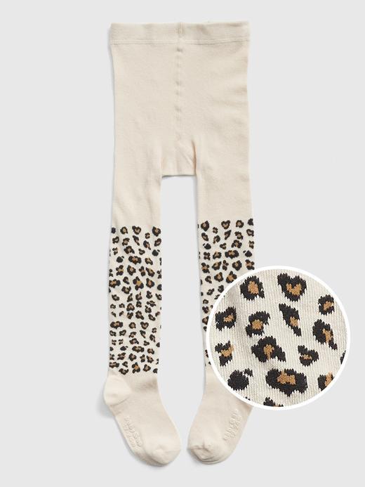 Bebek Bej Desenli Külotlu Çorap