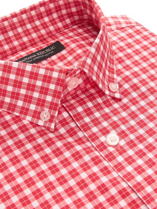 Slim-Fit Tech-Stretch Cotton Pamuklu Gömlek
