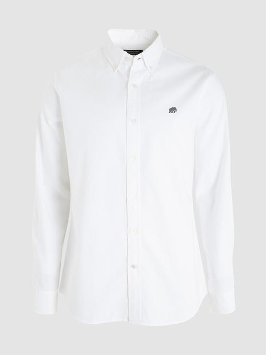 Erkek Beyaz Slim Oxford Gömlek